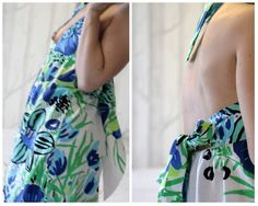 Summer dress with Finlayson Paratiisi