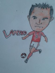 30th June 2013, my favourite football player is Frank Lampard. I remember thinking that I should draw Wain Rooney, Steven Gerrard & David Beckham, but I never got up to drawing them ever since this drawing.
