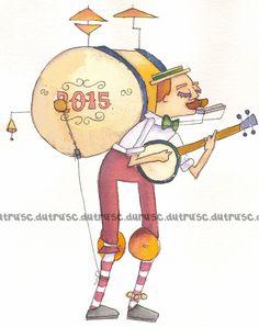 "Hombre orquesta, One-man Band todocon""u""ILUSTRACIONES www.carmendutrus.blogspot.es"