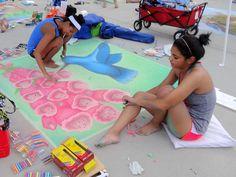 Sidewalk Chalk Art Sidewalk Chalk Art, Spring Fever, Winter Garden, Bloom, 3d, Sidewalk Art, Terraced Garden