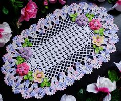 new hand crochet doily