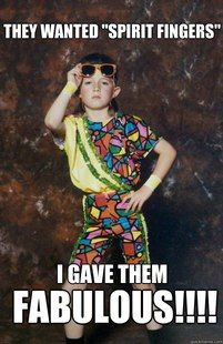 Oh jazz hands...... OMG! I had the girl version of this dance costume!