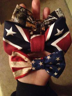 Country. Hair bows. Camo