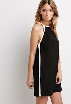 Contrast-Trimmed Halter Dress   LOVE21 - 2000134694- Because #Forever21 has the best styles at the lowest prices you will find!!! Guaranteed!