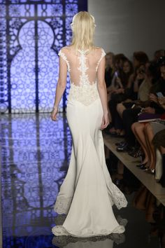 One of 23 Wedding Dresses That Are Even Prettier from the Back  - ELLE.com - REEM ACRA (=)