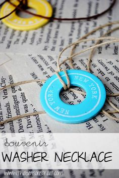 Want to create a memento from your recent vacation, use this easy idea to create DIY souvenir washer necklaces.