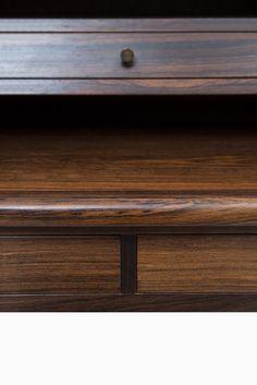 Rosewood secretaire with brass details at Studio Schalling