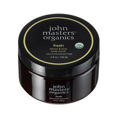 John Masters Organics Fresh Body Scrub all-natural sugar scrub. Pedicure At Home, Pedicure Tools, Natural Makeup Tips, Organic Sugar, Organic Oils, Natural Sugar, Lemon Lime, Body Scrub, Beauty