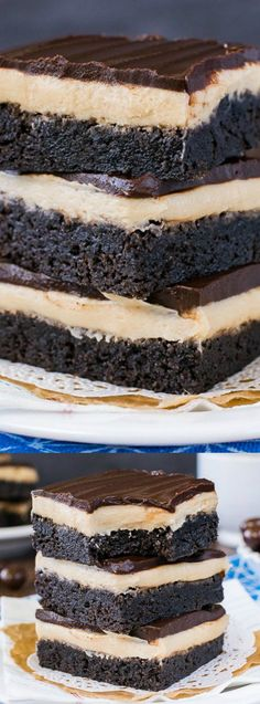 These Coffee Cream Brownies from Inside Bru Crew Life have a creamy coffee frosting and a layer of chocolate! You won't be able to resist them! via @bestblogrecipes