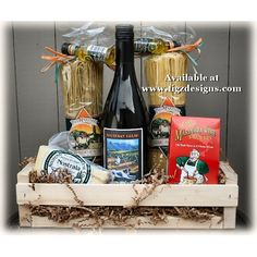 Wine, Cheese and Pasta Gift Basket - Creston BC Gift Basket Delivery