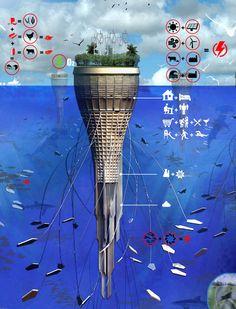 Concept Waterscraper Brings Monumental Architecture Into The Open Sea | Popular Science