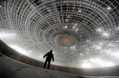 Buzludzha. House of the Bulgarian Communist Party.