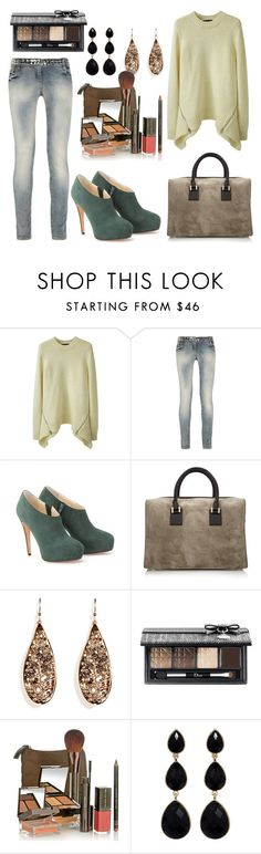 """Cadeau"" by chiara901 ❤ liked on Polyvore featuring Alexander Wang, Balmain, Brian Atwood, Victoria Beckham, Alexis Bittar, Christian Dior, Lauren Hutton and Amrita Singh"