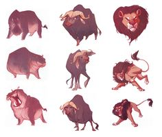 Betsy Bauer character designs for The Legend of Tembo, canceled film by Digital Domain