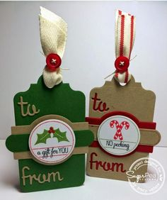 Christmas Tags by Scrapgirl1210 - Cards and Paper Crafts at Splitcoaststampers