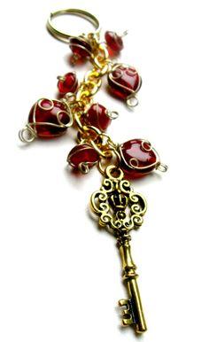 Accessories Beaded Keychain  Gold keychain by AccessoryShowcaseNY