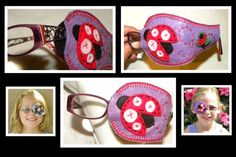 Printed Felt Eye Patches Reversible 35 to choose from by PatchMe