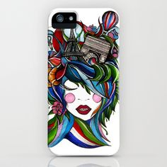 """Paris girl"" Phone Cases by Lera Razvodova on Society6."