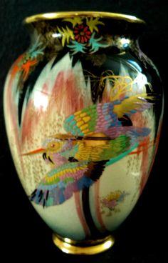 """CARLTON WARE """"SKETCHING BIRD"""" 20cm Vase #vase"""