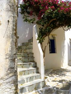 greece: steps in old lefkes paros...  http://www.cycladia.com/travel-guides-greece/paros-guide-tips/