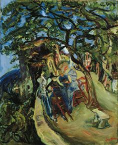 Chaim Soutine Landscape with Figures circa 1922. oil on canvas, ...