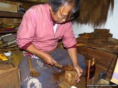 Brush maker in Shikoku on Toursgallery Untouched Japan Tour.