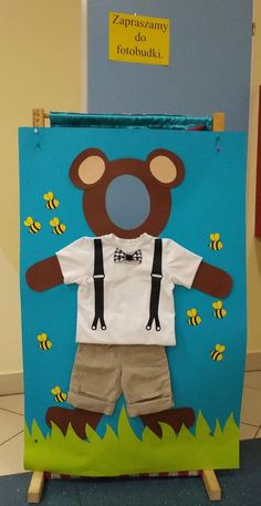 Teddy Bear Day, Diy And Crafts, Crafts For Kids, School Murals, Bear Party, Working With Children, Brown Bear, Toddler Activities, Photo Booth