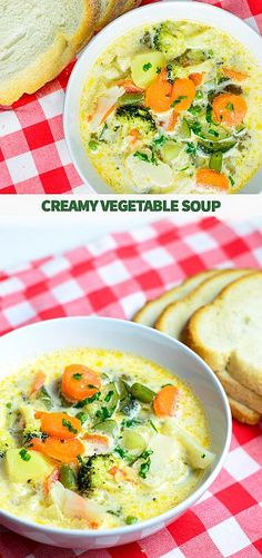 Creamy vegetable soup | myzucchinirecipes