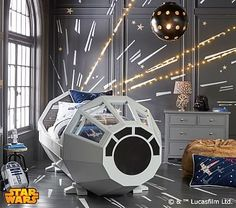 This bed I want...Peter and I could sleep just fine next to each other. Someone want to buy it for us??? Star Wars™ Bed #pbkids