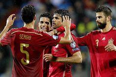 España vence a Luxemburgo y Diego Costa convierte su primer gol
