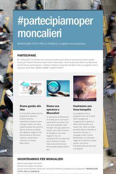 #partecipiamopermoncalieri Incontriamoci, diamo gambe alle idee! #moncaliericittaperlafamiglia