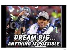 Wilson Seahawks, Wilson Football, Nfl Football, Seattle Seahawks, Football Players, Football Wall, Nfl Seahawks, Broncos, Motivational Wall Art