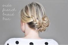 side bun with braid - Google Search