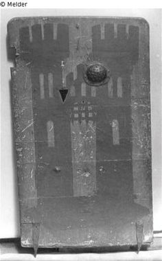 Pavese / Storm wall with coat of arms of Ravensburg. Formerly Zeughaus Berlin, Germany. Ca. 1450. Lost since end of World War II