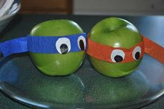 Healthy favors : Teenage Mutant Ninja Turtle Birthday Party Inspiration