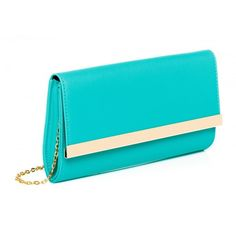 Lindsay Clutch (460 UAH) ❤ liked on Polyvore featuring bags, handbags, clutches, blue clutches, blue handbags and blue purse