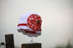 Vintage Edwardian Inspired Crocheted Girls by Geminivintagestore, $25.00 Size 3-6 months! Cute photo prop hat, very stylish for fall. #crochet #crochethat #crochetforbaby #vintageinspired #downtonabbey