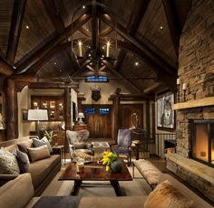 Mountain home remodel, Big Sky, MT. Highline Partners.
