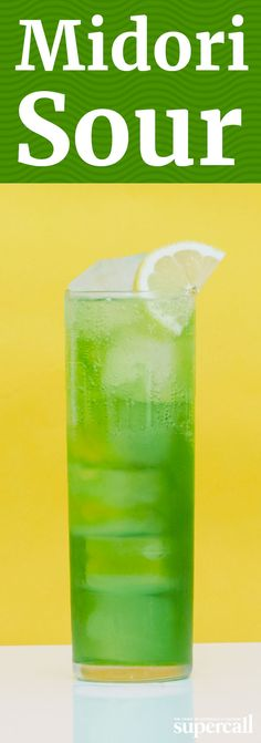 Made with neon green Midori (a Japanese liqueur flavored with muskmelon—a honeydew-esque fruit), vodka, citrus juices and soda water, it's as fun to look at as it is to sip. INGREDIENTS 1 OZ MIDORI 1 OZ VODKA 0.5 OZ LEMON JUICE 0.5 OZ LIME JUICE SODA WATER MARASCHINO CHERRY