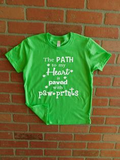 Youth Animal Lover Shirt/Path To My Hearth Is Paved With Paw Prints/Pet Lover T-Shirt/Dog Lover/Cat Lover