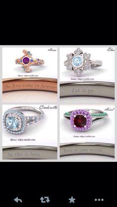 Disney Princess rings. Elsa's is beautiful!!