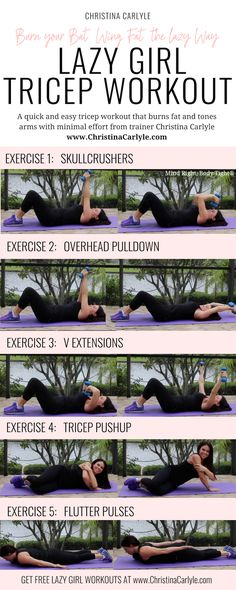 , Lazy Girl Bat Wing Tricep Workout for Women christinacarlyle. , Burn your Arm Fat from Bed with this Lazy Girl Bat Wing Workout Style Fitness, Fitness Home, Fitness Routines, Triceps Workout, Tricep Workout Women, Underarm Workout, Lazy Girl Workout, Fitness Workout For Women, Arm Workouts