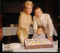 Sandra Dee's Birthday 1966. Sandra Dee, Bobby Darin, and their son Dodd.