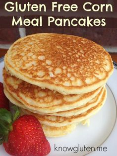 gluten free cornmeal pancakes 1⅓ cup cornmeal 2 T sugar 1 T Baking powder 2 T butter OR 2 T vegetable oil and ¼ tsp salt 1 egg 1 cup milk 1 tsp vanilla