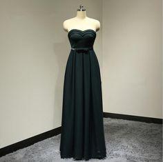 Elegant Plus Size Black A-Line Long Evening Dresses