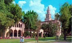 Take a stroll through Rollins College in Winter Park. | Florida Memory
