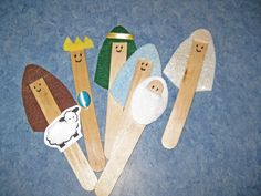 Adorable Nativity Craft Stick Characters