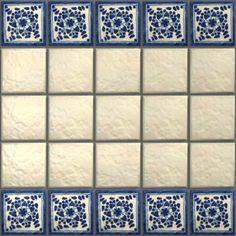 LeMog - 3dTextures - Carrelage Azuleros Bleus 2 - Tiles/357 amazia