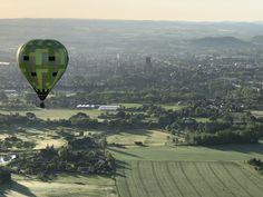 Décollage en montgolfière près du golf d'Albi avec Atmosph'Air montgolfières occitanes