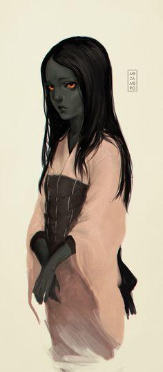 Blackbird girl by Mezamero.deviantart.com on @DeviantArt